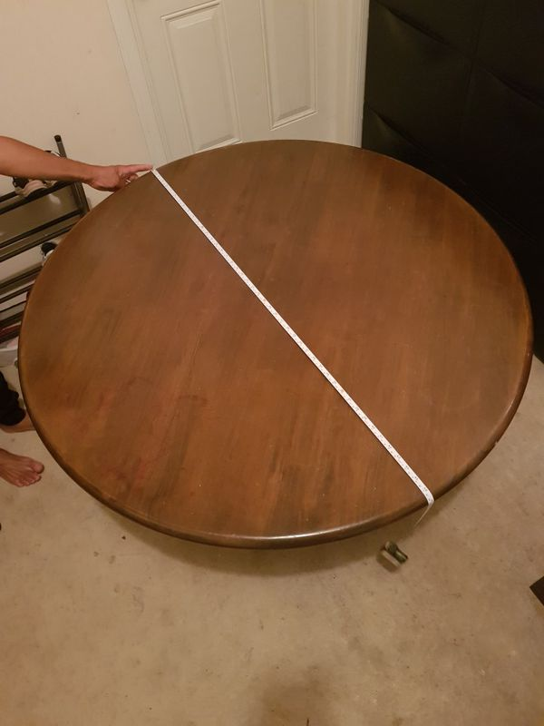 Circle dining table without chairs