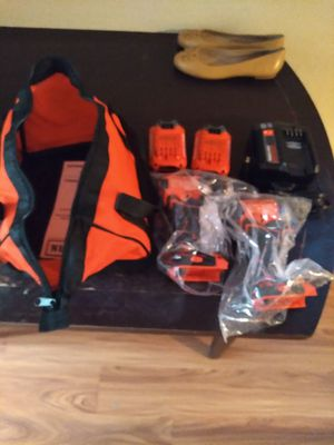 Craftsmanship brushless combo kit 20 volt hammer drill and impact 2 battery's and charger plus bag for Sale in Anaheim, CA