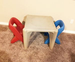 Kids play table + two chairs for Sale in Dripping Springs, TX