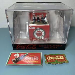Coca Cola Collectible Mini Clock With 2 Magnets for Sale in Miami, FL