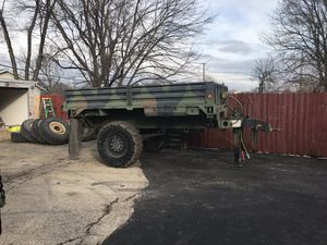 12.6 foot m1082 military cargo/ flatbed trailer sell/trade for Sale in Plainfield, IL