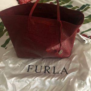 Furla red croc En tossed Tote Bag for Sale in Fort Lauderdale, FL