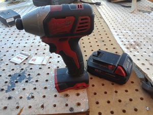 Milwaukee impact driver + battery for Sale in Las Vegas, NV