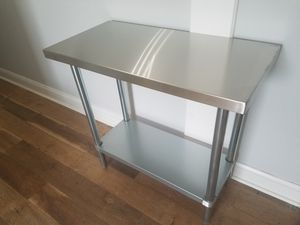 """Used, Regency 18"""" x 36"""" 18-Gauge 304 Stainless Steel Commercial Work Table with Galvanized Legs and Undershelf for Sale for sale  Hampton, VA"""