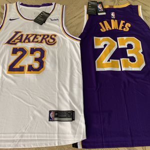 Lebron James Lakers Jersey Los Angeles #23 White// Purple// STITCHED S-XXL for Sale in Los Angeles, CA