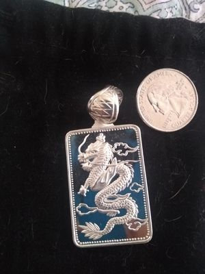 Sterling Silver Mirrored Dragon pendant .925 for Sale in Largo, FL