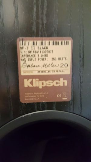 Klipsch flloors standing speakers for Sale in Pleasanton, CA
