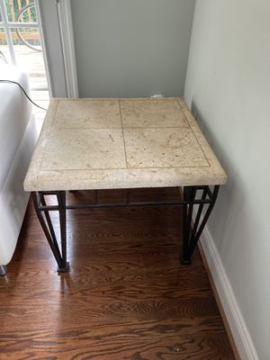 Stone – top end table for Sale in Washington, DC