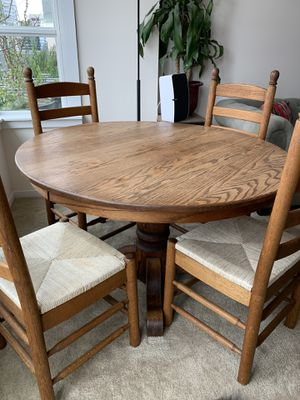 "Solid Hardwood Dining Room Table and 4 Chairs 48"" wide 29"" Tall for Sale in Seattle, WA"