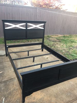 Queen bed frame and mattress +box spring for Sale in St. Louis, MO