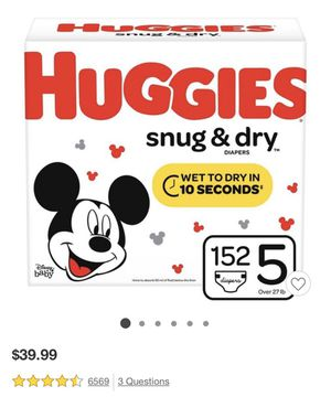 Huggies diapers size 5 for Sale in Aurora, CO