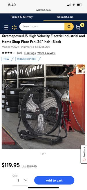 Brand New Big comercial fan very COOOLD in the box never used $120 cash and pick up in person please for Sale in Oakland, CA