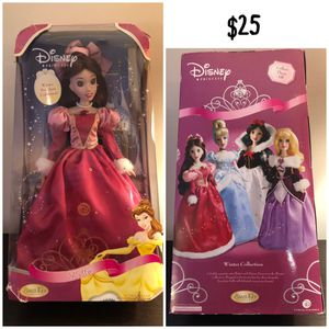 Disney Princess Winter Porcelain Collection - Belle for Sale in Tewksbury, MA