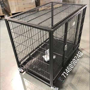 Dog Pet Cage Kennel Size 37 Medium With Metal Floor Tray And Wheels New In Box 📦 for Sale in Montclair, CA