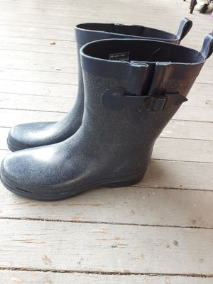 Sparkly blue Rain boots for Sale in Buffalo, NY