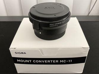 Sigma MC-11 Canon EF-Sony E mount Adapter for Sale in Los Angeles,  CA