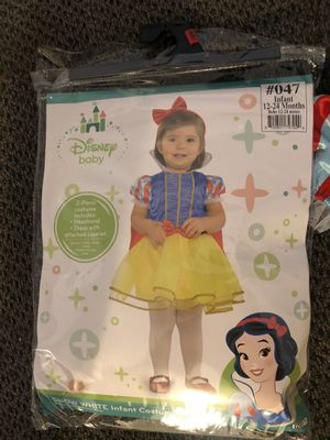 Snowhite costume for infant 12-24 months for Sale in Murrieta, CA