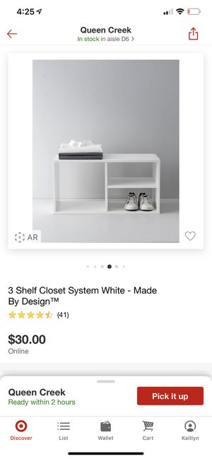 Bran new in box 3 shelf closet organizer for Sale in Mesa, AZ
