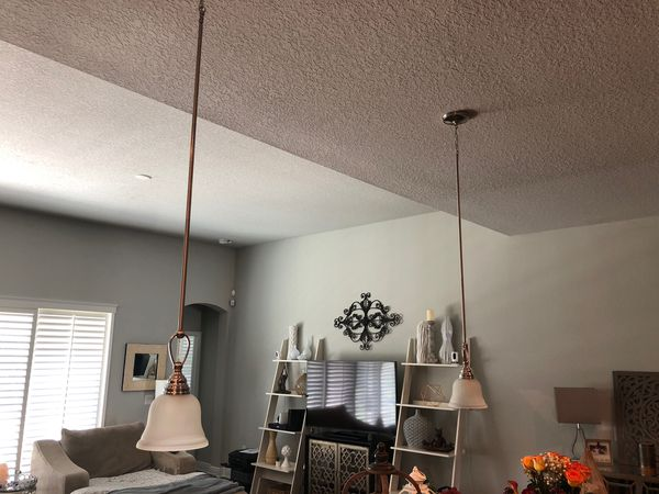 Hanging kitchen counter light fixtures- set of 2