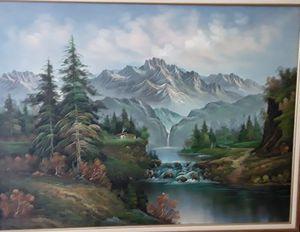 Carson's original oil painting. Cuadro al óleo del artista Carson. for Sale in Hialeah, FL