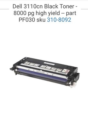 BLACK - Dell 3110cn Toner Cartridges for Sale in Lake Forest, CA