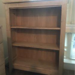Beautiful distressed white wood three shelf bookcase for Sale in Vienna,  VA