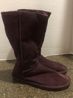 Women's Maroon Suede Ugg Like Boots Size 7 for Sale in Manassas,  VA
