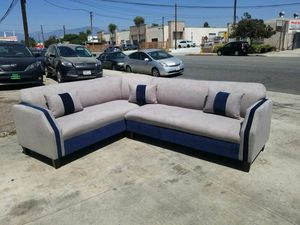 NEW 7X9FT ANNAPOLIS LIGHT GREY FABRIC SECTIONAL COUCHES for Sale in Clovis, CA