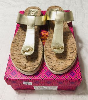 Tory Burch Gold Cork Sandals for Sale in Springfield, VA