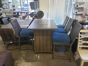 Brand New Patio Furniture High Dining Bar Table Height 5 PC tax included and free delivery for Sale in Hayward, CA