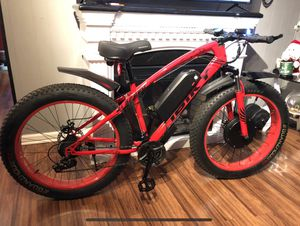 New FAST custom eBike, 1500w motor 48v lithium battery electric bicycle cruiser mountain bike downhill for Sale in Garden Grove, CA