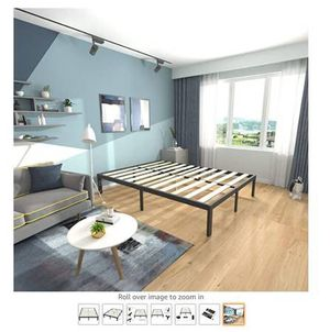 LIKE NEW STEEL & WOODEN FULL BED FRAME for Sale in San Francisco, CA