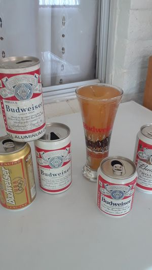 Budweiser cans and candle for Sale in Payson, AZ