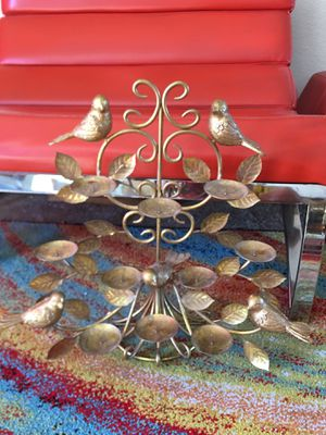 Gold Birds Wall hanging Candle Holder for Sale in Las Vegas, NV