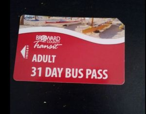 Broward county unactivated bus pass for Sale in Hollywood, FL