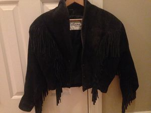 Wilson's suede and leather cropped fringe jacket for Sale in Raleigh, NC