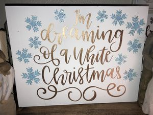 Hand-painted Christmas Wooden Art for Sale in Fort Belvoir, VA