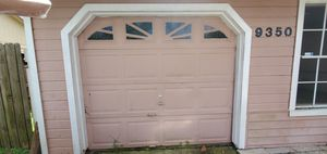 before and after, installation of a solid 8 × 7 door for Sale in BVL, FL