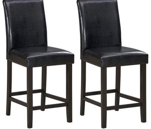 Brand New Barstools Set of 2, 25 inch Wooden Vintage Bar Chairs, Counter Stools w/Upholstered Foam Cushion & Solid Rubber Wood Legs, Classical Indoor for Sale in Auburn, WA