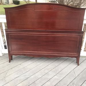 Antique Cherry Wood Bed, Dresser, & Night Stand for Sale in Purcellville, VA