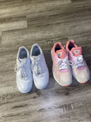 Size 8.5 Nike Air forces & Size 8 Adidas women shoes | barely worn for Sale in Arlington, TX