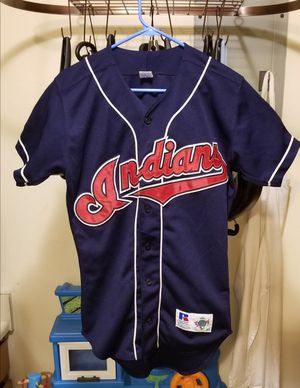 Vintage MLB Cleveland Indians RUSSELL ATHLETIC Stitched Jersey Size 40 for Sale in Littleton, CO