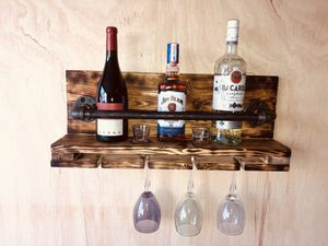 Rustic Bottle Shelf for Sale in Kimberly, WI