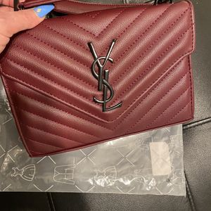 Burgendy Ysl Genuine Leather Chain Bag for Sale in Berkeley, CA