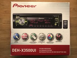 Pioneer DEH-X3500UI CD RDS Receiver for Sale in Chevy Chase, MD