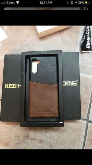 KEZI Home Galaxy note 10 Case,Genuine Leather Card Holder Slot Wallet Case for Sale in Bakersfield, CA