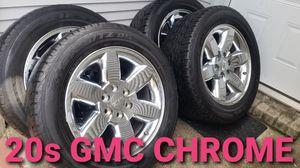 20s GMC CHROME WHEELS (SIERRA 1500, YUKON, SUBURBAN, SILVERADO 1500 TAHOE) 6X139.7 for Sale in Channelview, TX