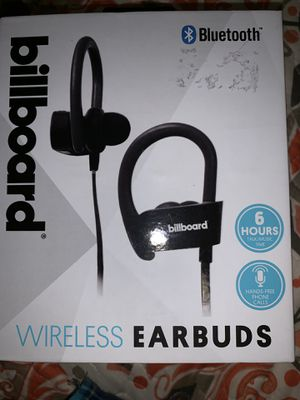 Billboard Bluetooth wireless earbuds for Sale in Humble, TX