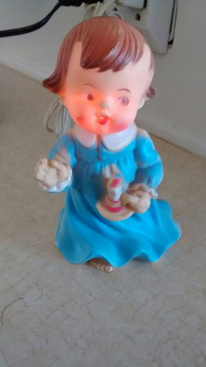 1960s Rubber little girl nightlight vintage for Sale in Perris, CA