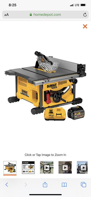 Flexvolt table saw kit for Sale in Atherton, CA